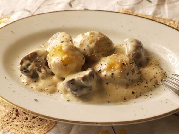 栗とマッシュルームのクリーム煮 第五回 レシピ - 栗とマッシュルームのクリーム煮 - JJaz